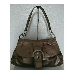 👜Coach Bronze Leather Hobo/Shoulder Bag
